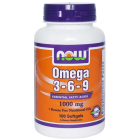 NOW Omega 3-6-9 1000 мг 100 Softgels