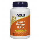 NOW Super Omega 3-6-9 1200мг (90 гел.капс.)